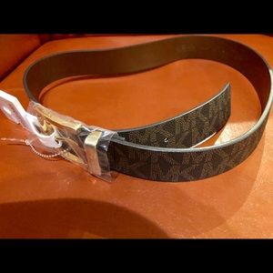 Michael Kors Tan/Brown Monogram Belt (New)